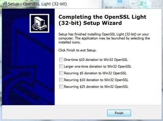 OpenSSLインストール方法